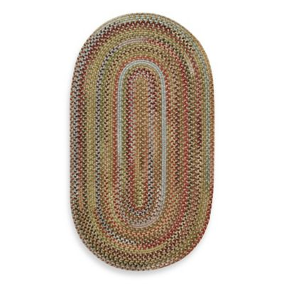 Capel Kill Devil Hill 3-Foot x 5-Foot Oval Indoor Braided Rug - Multi