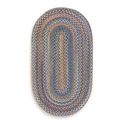 Capel Kill Devil Hill Oval Indoor Braided Rug - Medium Blue