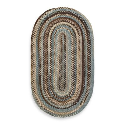 Capel Kill Devil Hill 3-Foot x 5-Foot Oval Indoor Braided Rug - Tan