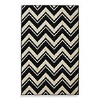 Mohawk Home Lascala Chevron Stripe Indoor Rugs in Black/White