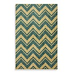 Mohawk Home Lascala Chevron Stripe Indoor Rugs in Medium Blue