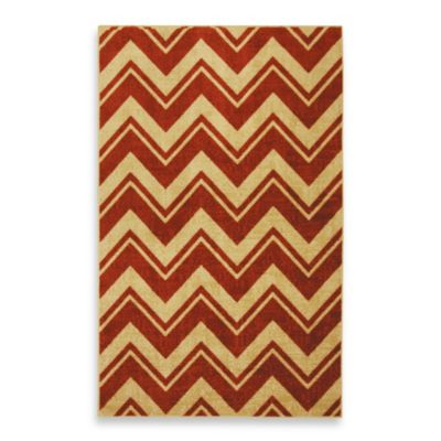 Mohawk Home Lascala Chevron Stripe Indoor Rugs in Rust