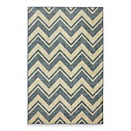 Mohawk Home Lascala Chevron Stripe Indoor Rugs in Blue