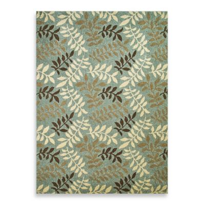 Concord Global Leafs 2-Foot 7-Inch x 4-Foot 1-Inch Rug in Blue