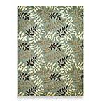 Concord Global Leafs Rugs in Blue