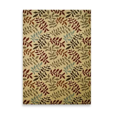 Concord Global Leafs Rugs in Ivory