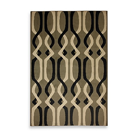 Mohawk Home Linked Lines Shitake 8-Foot x 10-Foot Indoor Rug