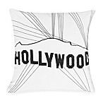Passport 18-Inch Square Postcard Toss Pillow in Hollywood