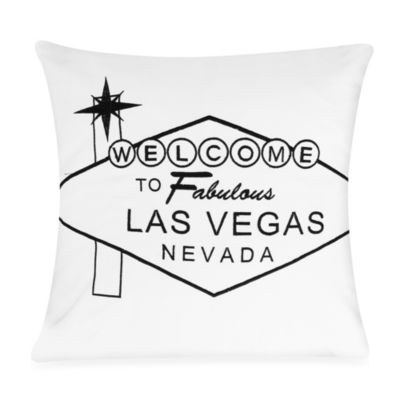 Passport 18-Inch Square Postcard Toss Pillow in Las Vegas