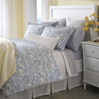 Downtown Company Peizli Full/Queen Reversible Duvet Cover in Blue