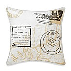 Vue™ Sincerely Yours Postcard Square Toss Pillow