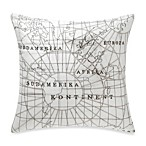 Vue™ Sincerely Yours Globe Square Toss Pillow