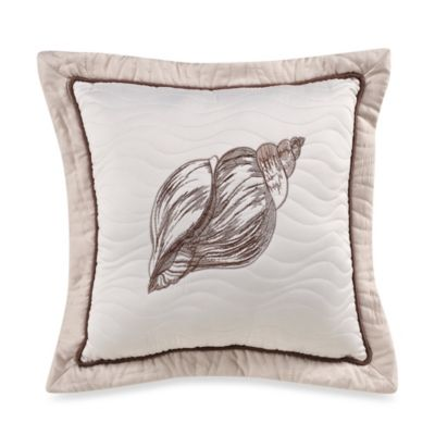 Outer Banks Shell Square Toss Pillow