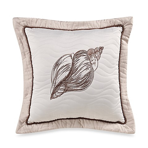 Outer Banks Shell Square Throw Pillow