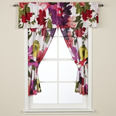 Floral Window Panel Curtains