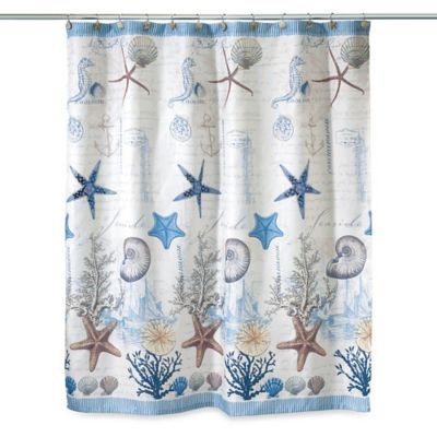 Avanti Antigua 70-Inch x 72-Inch Fabric Shower Curtain
