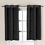 Hookless® Waffle 38-Inch x 45-Inch Window Curtain in Black
