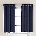 Hookless® Waffle 38-Inch x 45-Inch Window Curtain in Navy Blue