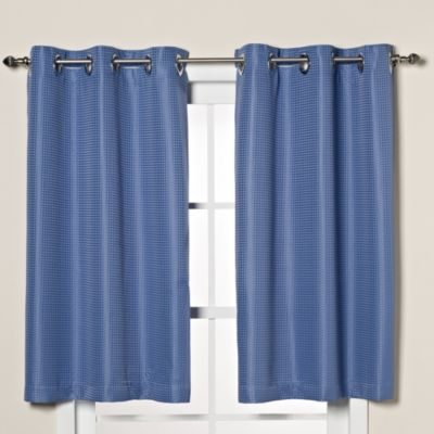 Hookless® Waffle Window Curtain in Moonlight Blue