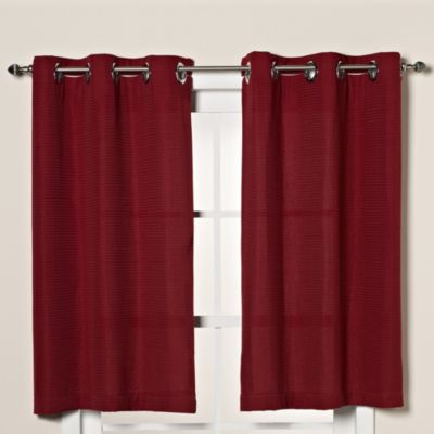 Hookless® Waffle Window Curtain in Moonlight Red