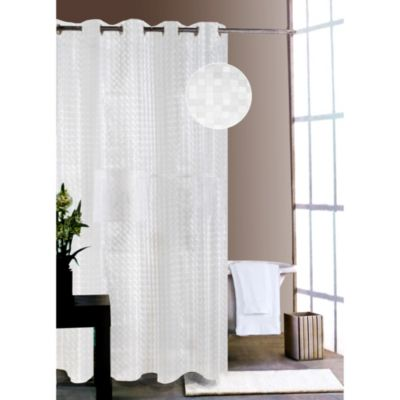 Shower Tunes White City Lights Shower Curtain Liner