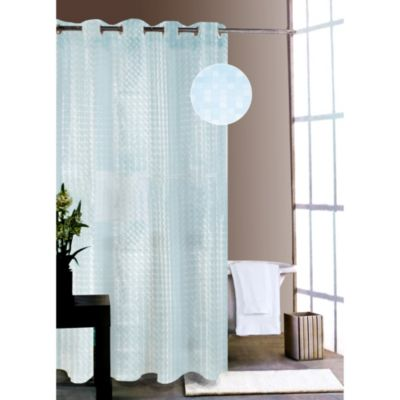 Shower Tunes Blue City Lights Shower Curtain Liner