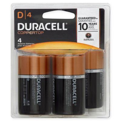 Duracell® D Battery (4-Pack)