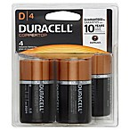 Duracell 4-Pack D Battery