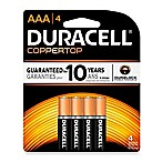 Duracell AAA Battery (4 Pack)