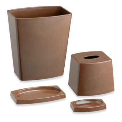 Brown Bathroom Waste Basket