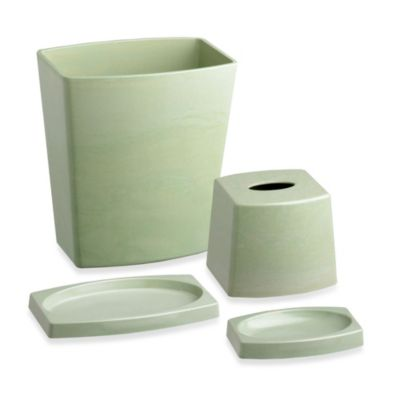 Kraftware™ My Earth 4-Piece Recycled Plant Fiber Bathroom Set in Sage