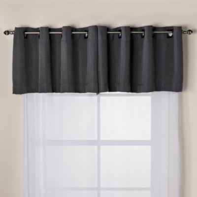 Black Silver Window Valance