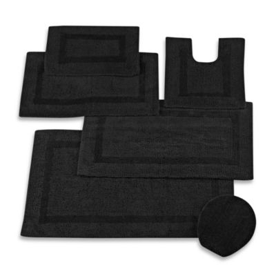 Wamsutta Reversible 24-Inch x 40-Inch Cotton Bath Rug in Ebony