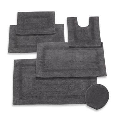 Wamsutta Reversible 21-Inch x 34-Inch Cotton Bath Rug in Pewter
