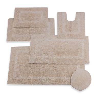 Wamsutta Reversible 17-Inch x 24-Inch Cotton Bath Rug in Vanilla