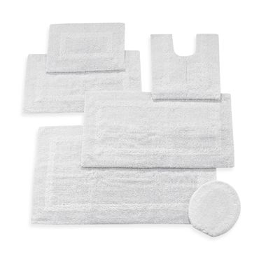 Wamsutta Reversible 21-Inch x 34-Inch Cotton Bath Rug in White