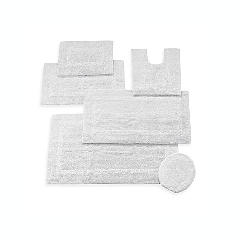 Wamsutta® Reversible Contour Bath Rug in White