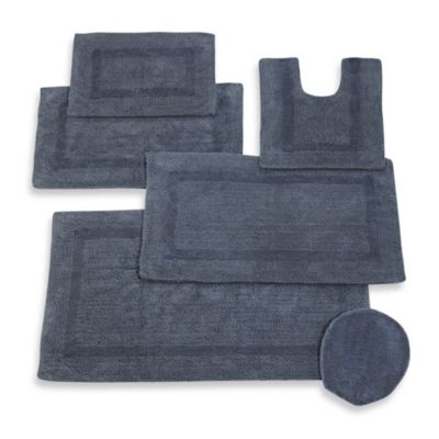 Wamsutta® Reversible Contour Bath Rug in New Blue