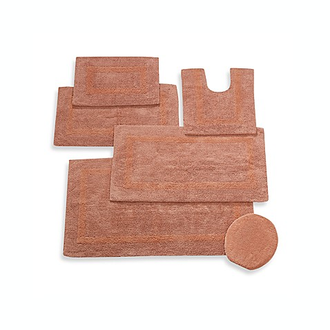 Wamsutta® Reversible Contour Bath Rug in Salmon