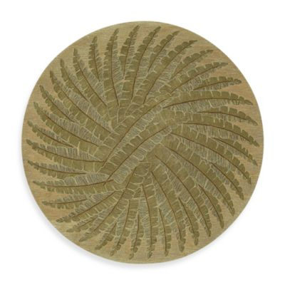 Kaleen Pablo 3-Foot 9-Inch Round Rug in Gold