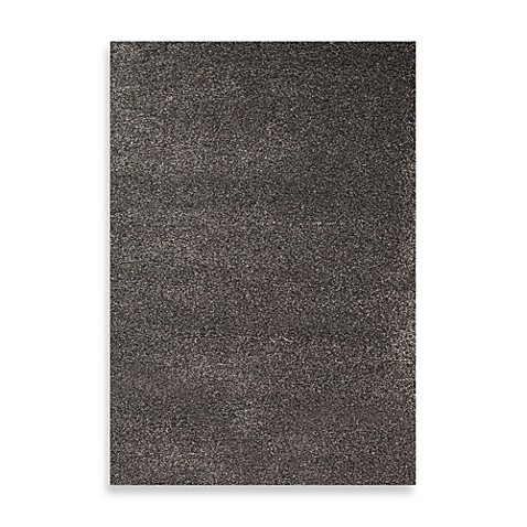 World Rug Gallery Gorilla Shag Charcoal Area Rug