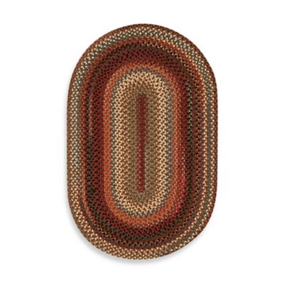 Capel Portland 5-Foot x 8-Foot Oval Indoor Braided Rug - Mocha
