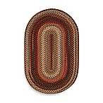 Capel Portland Oval Indoor Braided Rug - Mocha