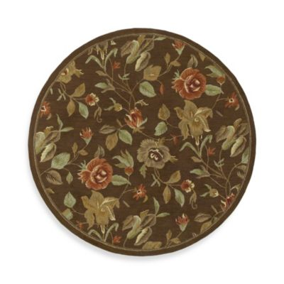 Ridolfo Round Rug in Chocolate