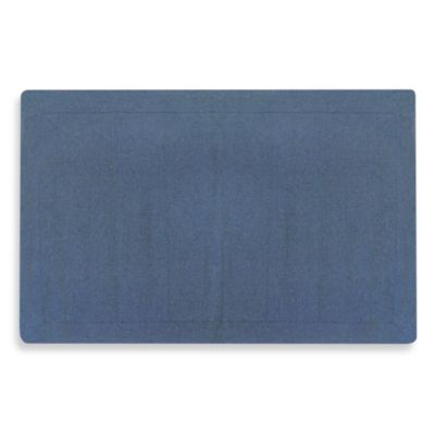 eco-ordinates® by Park B. Smith 2-Foot 3-Inch x 3-Foot 6-Inch Astor Ribbed Accent Rug in Denim