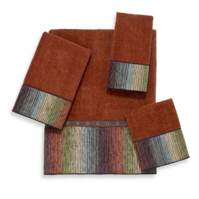 Avanti Cheyenne Fingertip Towel in Copper