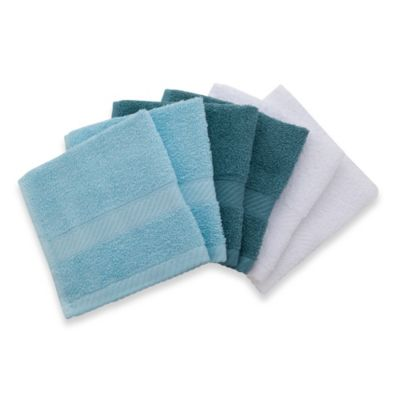 Lasting Color (Pack of 6) Washcloths in Blue