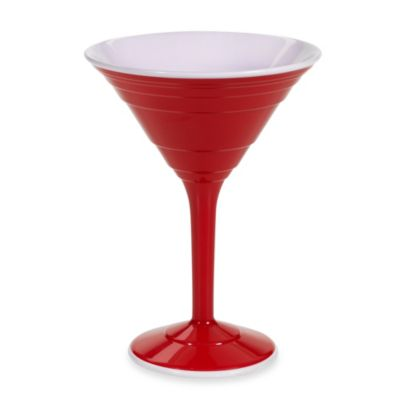 Reusable 12-Ounce Martini Cup in Red