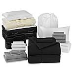 Solid Black 21-Piece Classic Dorm Room Kit