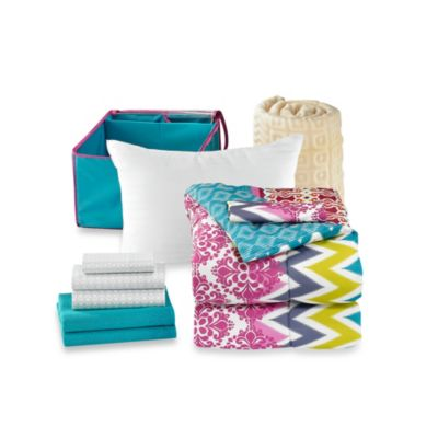 Get Started Riley 10-Piece Dorm Room Bedding Kit